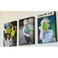 Печать фото портрета картины на холсте 10х15 см
