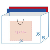 Пакет ламинированный 50х35х15см БЕЛЫЙ